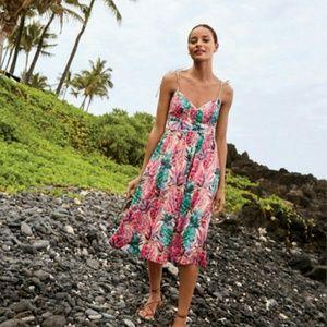 J. Crew Ratti Painted Pineapple dress, size 8